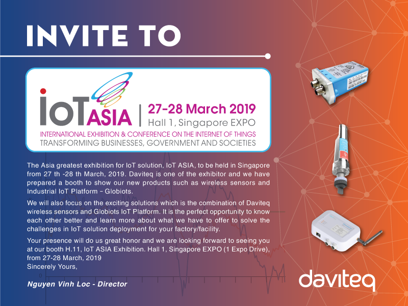 Invitation Letter To The IoT ASIA Exhibition