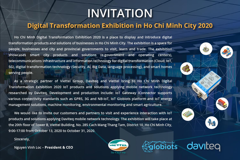 Thư mời tham quan triển lãm Chuyển Đổi Số Thành phố Hồ Chí Minh 2020